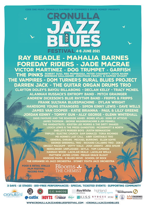 Cronulla Jazz and Blues Festival Poster.