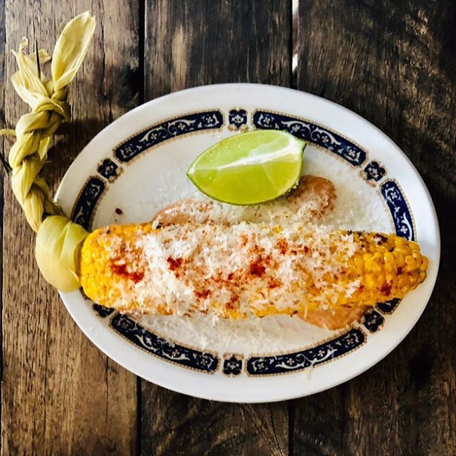 Char grilled corn, chipotle mayo, parmes