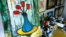Wobbly Flowers Wobbly Vase