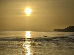 Omaha beach sunrise