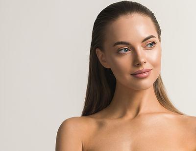 Beauty woman face clean skin beautiful f