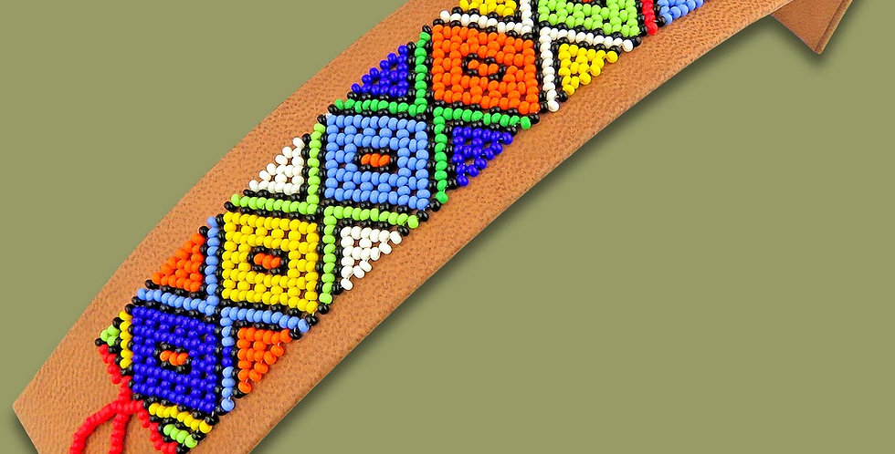 Handmade in S.A Beaded Bracelet Flat African Colours