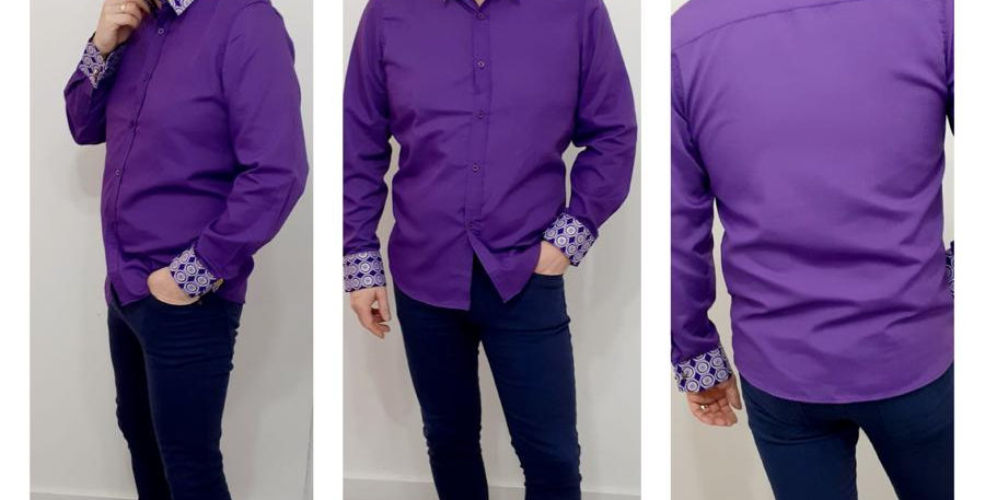 """Men's Polyester / Cotton Shirt Slim 42"""" Chest Designed by GeeNeeS Boutique"""