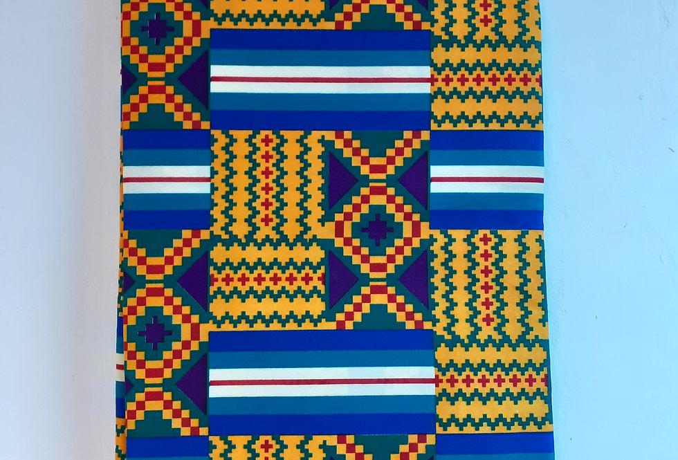 KENTE 100% COTTON ANKARA AFRICAN PRINT FABRIC 6 YAR