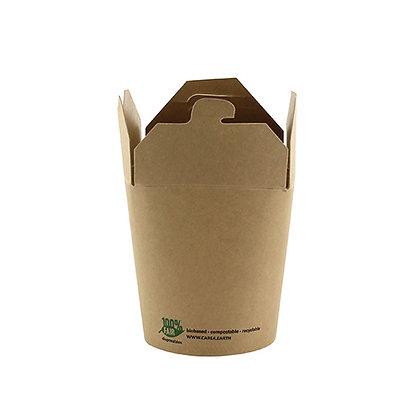 "500 Snackboxes, 230ml,  χαρτόνι ""pure"" 0.13€/Τεμάχιο"