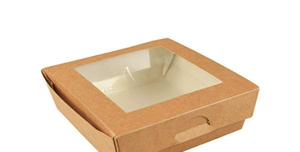 """Φαγητοδοχεία με παράθυρο, PLA """"pure"""", 750ml 25 (τμχ)"""