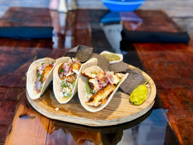 Fish Tacos Freshwater Tavern overlooking