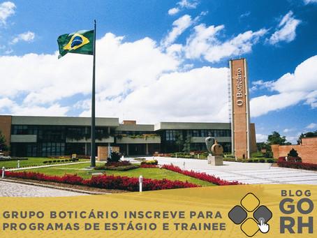 Agora você pode escrever no Grupo Boticário inscreve para programas de estágio e blog onde estiver!