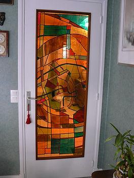 décoration porte en verre