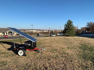 Solar + battery power generator trailer