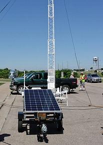 portable, mobile, trailer mounted solar power generator, off-grid, remote solar