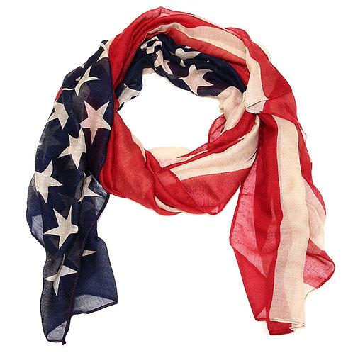 Scarf American Flag Vintage