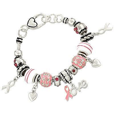 Pink Ribbon Theme Bracelet LOVE