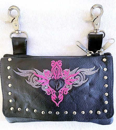 Clip Purse Tribal Hot Pink