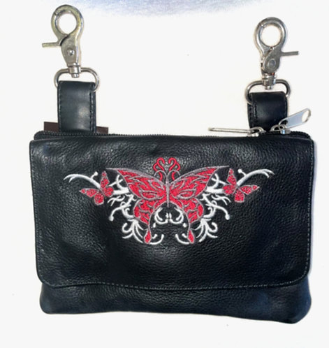 Clip Purse Butterfly Red