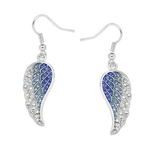 Angel Wing Earrings-Blue