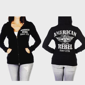 Made in the USA American Rebel Hoodie $4