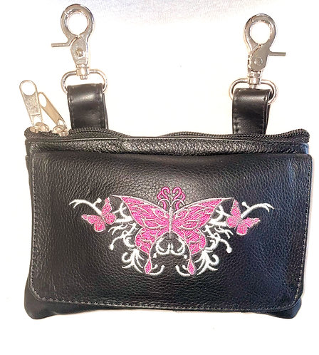 Clip Purse Butterfly Pink