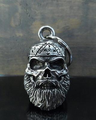 Old School Biker Skull Bell