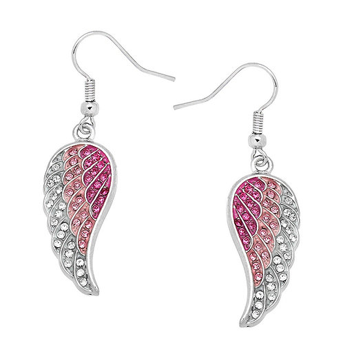 Angel Wing Earrings-Pink