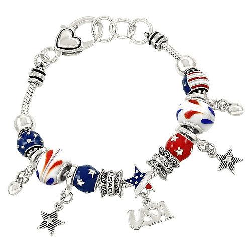 Patriotic and USA Theme Bracelet