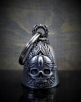 Mandala Skull Rose Bell