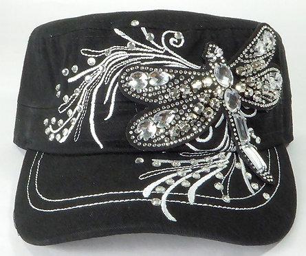 Dragonfly Bling Vintage Cadet Cap