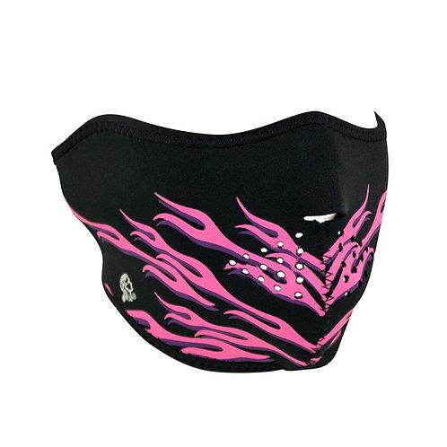 Half Mask Neoprene Pink Flames