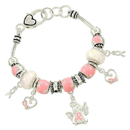 Pink Ribbon Theme Bracelet ANGEL