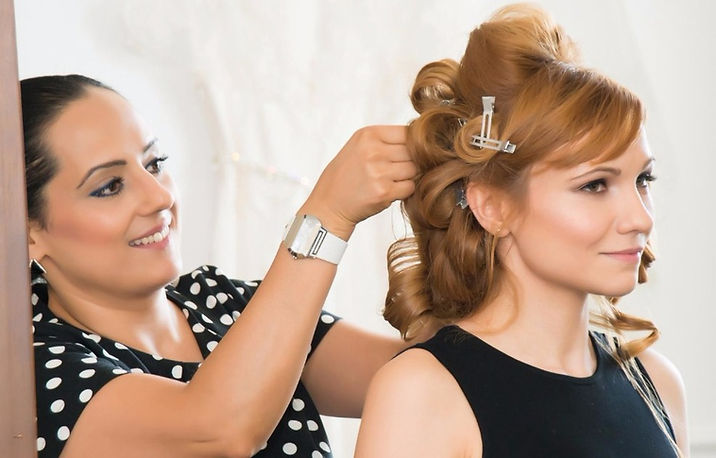 Wedding day hairstyling