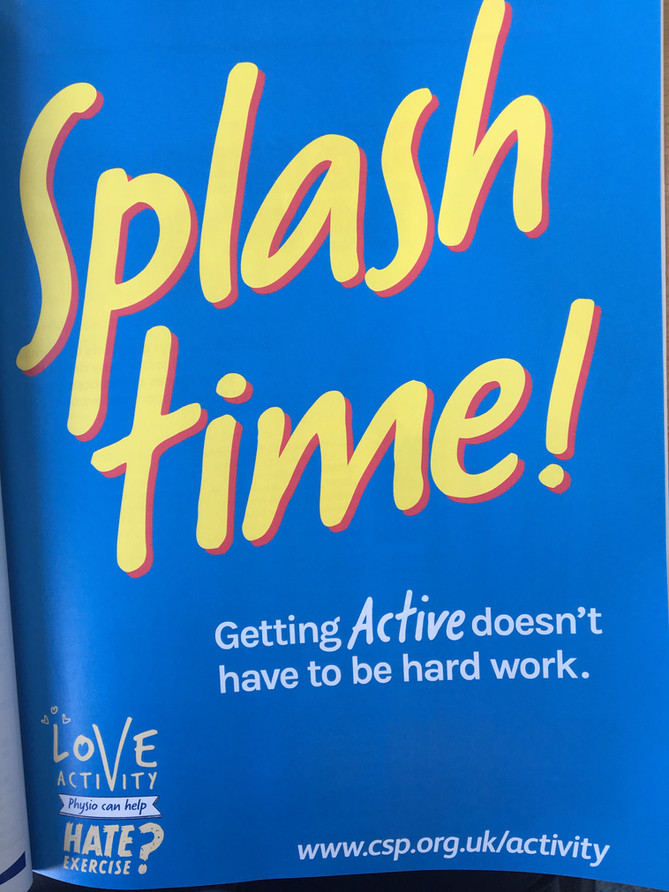'Strictly fun', 'Goodbye Treadmill, 'Splash time', 'No Lycra'... Getting