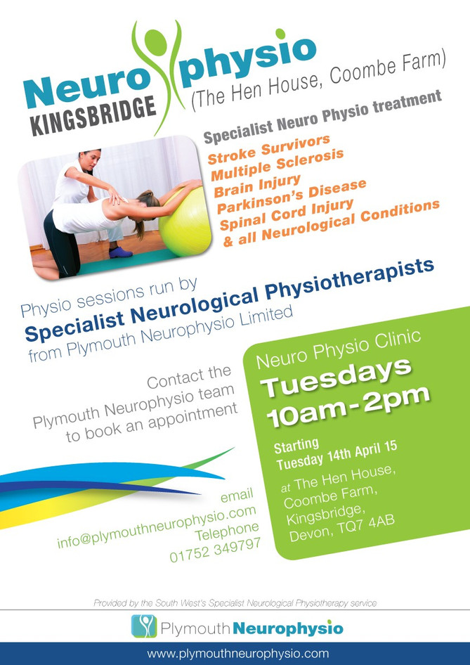 We're expanding!   Introducing Kingsbridge Neuro Physio - a clinic for our clients based in the