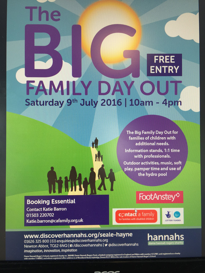 Plymouth Neurophysio excited to be speaking and sharing news of our services at 'Big Family Day