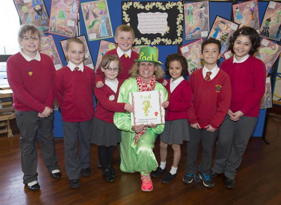 Lucia helps spread anti-bullying message to primary school pupils