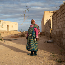 Shadiaa has three daughters. Two of them work with her in the lac. Sidi Makhlouf, Tunisia