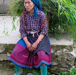 My husband will take care of me.  Sapa, Vietnam, 2013