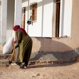 Zeira is the oldest of her sisters. She helps her mother at home and also go to work in the lac as well. Sidi Makhlouf, Tunisia