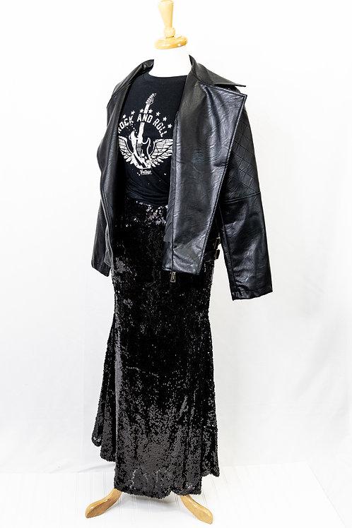 Evening Sequin Maxi Skirt