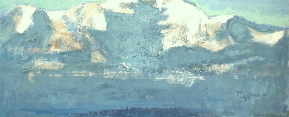 Mont-Blanc à  l'aube
