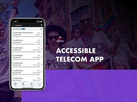 Accessible telecom app