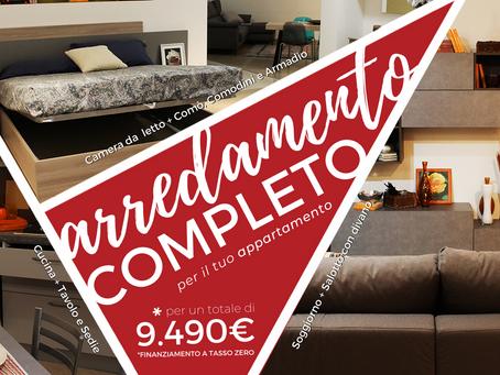 Arriva una nuova promo da non perdere: arredamento completo per il tuo appartamento a soli 9.490€