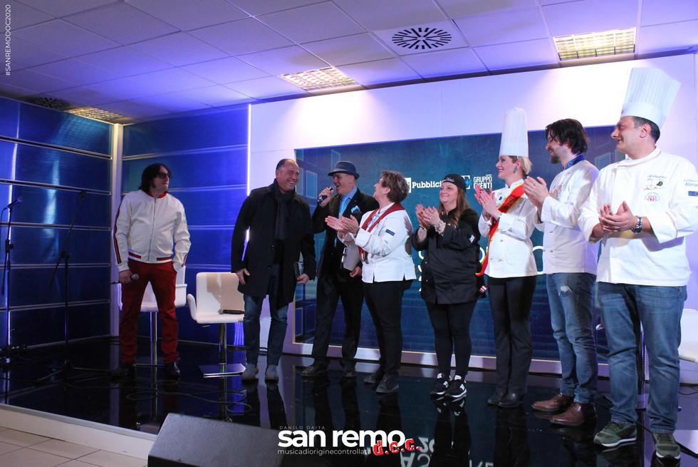 Michele Pecora, Danilo Daita, Jimmy Damasi e Team Food sanremodoc
