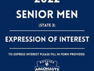 2022 SENIOR MEN - Expression of Interest (State 3)