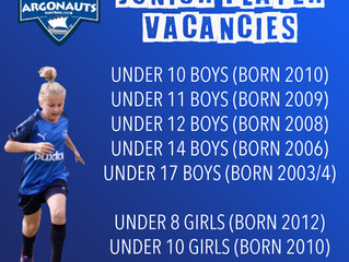 JUNIOR VACANCIES 2020