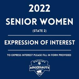 2022 SENIOR WOMEN - Expression of Interest (State 2)