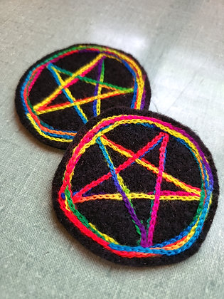 Rainbow Pentacle Patch
