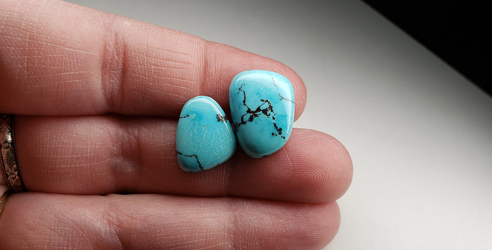 Natural Dry Creek Turquoise Cabochon Lot