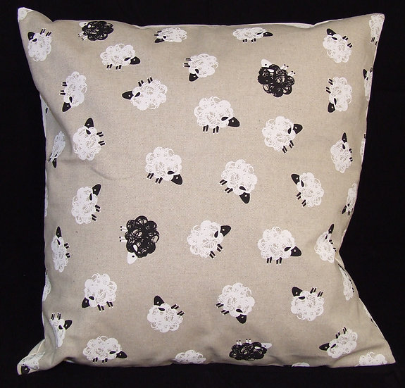 Printed Sheep Scatter Cushion
