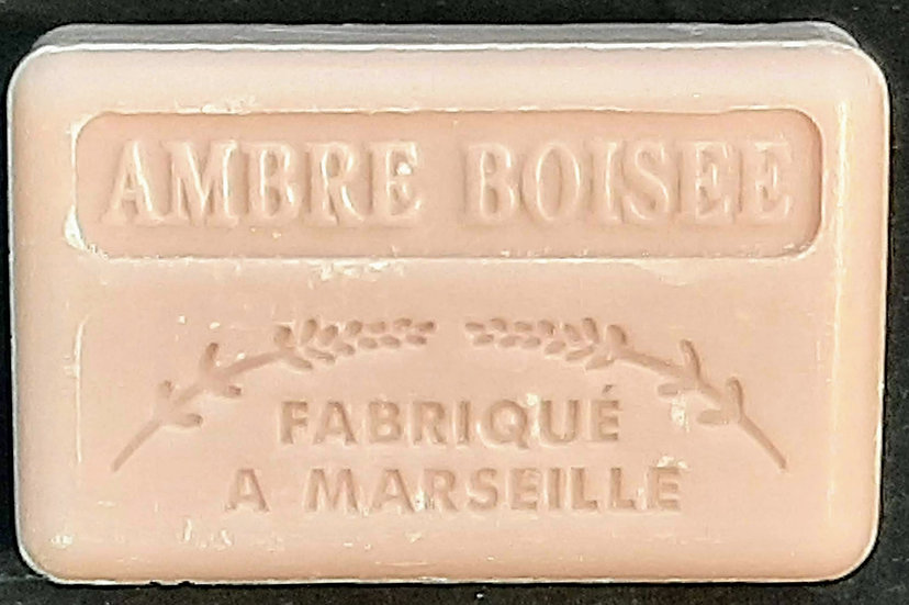 125G Ambre Boisse French Soap