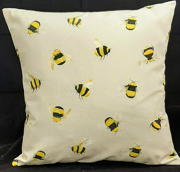Small Bee Print Scatter Cushion